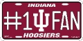 Indiana Hoosiers #1 Fan Aluminum License Plate