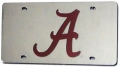 Alabama Crimson Tide Laser Cut Silver License Plate
