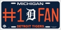 Detroit Tigers #1 Fan Aluminum License Plate