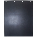 "Plain Black 24"" x 36"" Rubber Semi Truck Mud Flap"