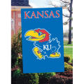 Kansas Jayhawks Embroidered Vertical Outdoor Flag