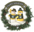 "Oakland Athletics 20"" Team Snowman Wreath"