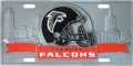 Atlanta Falcons NFL 3D Pewter License Plate