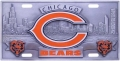 Chicago Bears NFL 3D Pewter License Plate