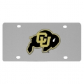 Colorado Buffaloes NCAA Stainless Steel License Plate