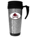 Arkansas Razorbacks NCAA Diamond Plate Oval Logo Travel Mug