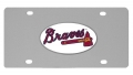 Atlanta Braves MLB Stainless Steel License Plate