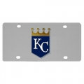 Kansas City Royals MLB Stainless Steel License Plate