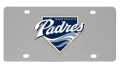San Diego Padres MLB Stainless Steel License Plate