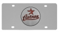 Houston Astros MLB Stainless Steel License Plate