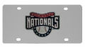 Washington Nationals MLB Stainless Steel License Plate