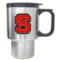 NC State Wolfpack Stainless Steel Travel Mug w/ Handle