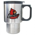 Louisville Cardinals Stainless Steel Travel Mug