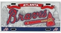Atlanta Braves MLB Heavy Duty Pewter 3D Sports License Plate