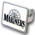 Seattle Mariners MLB Pewter Trailer Hitch Cover