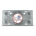 New York Yankees Heavy Duty Pewter 3D Sports License Plate