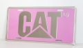 Caterpillar CAT Pink Aluminum License Plate-FREE SHIPPING