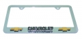 "Chevy ""Chevrolet"" Chrome 3D Bowtie License Plate Frame"