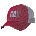 CAT Caterpillar Red Overlay Chino Mesh Cap