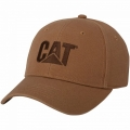 Caterpillar CAT Washed Brown Canvas Saddle Cap Bark Hat