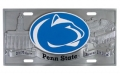Penn State Nittany Lions NCAA 3D Pewter License Plate