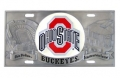 Ohio State Buckeyes NCAA 3D Pewter License Plate