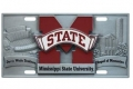 Mississippi State Bulldogs NCAA 3D Pewter License Plate