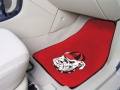 "Georgia Bulldogs ""UGA Dawg"" Logo Universal 2pc Red Front Car Mats"