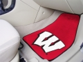 Wisconsin Badgers 2pc Car Floor Mats