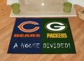 Chicago Bears vs Green Bay Packers House Divided Floor Rug