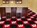 "Wisconsin Badgers NCAA 18"" x 18"" Carpet Tiles"