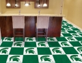"Michigan State Spartans NCAA 18"" x 18"" Carpet Tiles"