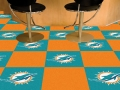 "Miami Dolphins NFL 18"" x 18"" Carpet Tiles"