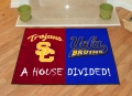 USC Trojans vs UCLA Bruins House Divided Floor Runner Mat/Rug