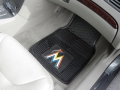 Miami Marlins Premium All Weather 2pc Rubber Car Floor Mats