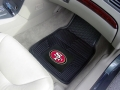 San Francisco 49ers Premium All Weather 2pc Rubber Car Floor Mats