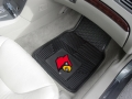 Louisville Cardinals Premium All Weather 2pc Rubber Car Floor Mats