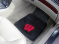 Wisconsin Badgers Premium All Weather 2pc Rubber Car Floor Mats