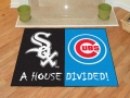 Chicago Cubs vs Chicago White Sox House Divided Floor Rug
