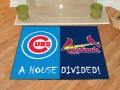 Chicago Cubs vs St. Louis Cardinals House Divided Floor Rug
