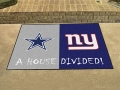 Dallas Cowboys vs New York Giants House Divided Floor Rug