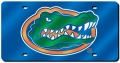 Florida Gators Blue Laser Cut/Mirrored License Plate