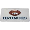 Denver Broncos Mirrored License Plate