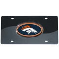Denver Broncos Black Acrylic License Plate