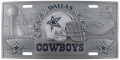 Dallas Cowboys NFL 3D Pewter License Plate