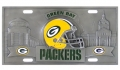 Green Bay Packers NFL 3D Pewter License Plate