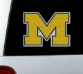 "Michigan Wolverines NCAA Logo Glass Tatz """"Cutz"""" Window Graphic/Decals"