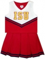 Iowa State Cyclones NCAA College Youth Cheerleading Outfits-FREE SHIPPING