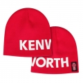 Kenworth Oversized Letterblock Red Winter Beanie Cap
