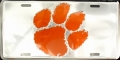 Clemson Tigers Chrome License Plate